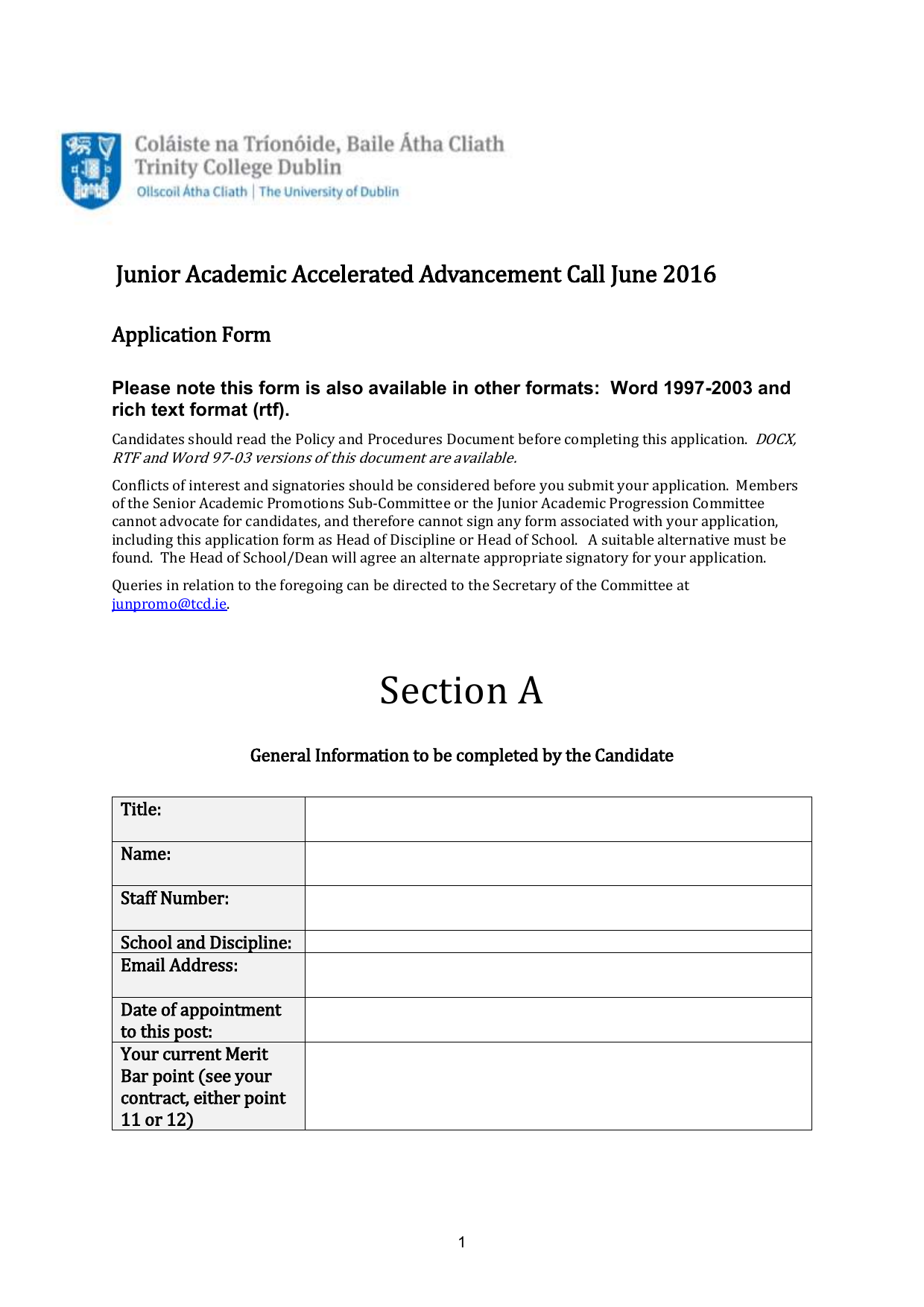 Application Form For Advancement Of Assistant Professors Beyond The