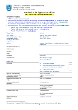 Nomination for Appointment Form (doc 109 kb)