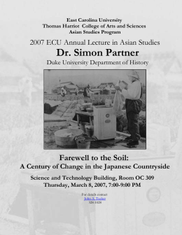 Dr. Simon Partner  Farewell to the Soil: