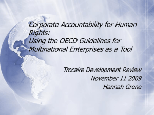 View the presentation delivered by Hannah Greene