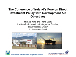 View the presentation delivered by Michael King and Frank Barry