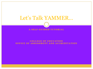 Let's Talk YAMMER…