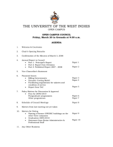 THE UNIVERSITY OF THE WEST INDIES OPEN CAMPUS  OPEN CAMPUS COUNCIL