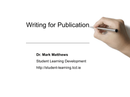Writing Academic Papers..ppt - (MS PowerPoint 1.3Mb)