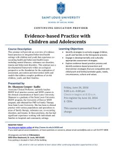 Evidence-based Practice with Children and Adolescents