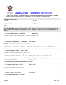 Monitoring Review Form