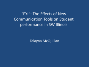 """FYI"": The Effects of New Communication Tools on Student Talayna McQuillan"