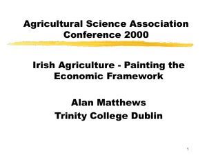 Irish agriculture Painting the economic framework