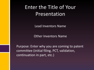 Click Here to Download the Presentation Guidelines for New Inventors