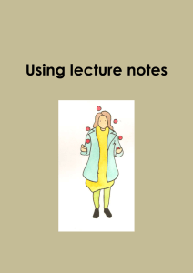 Using lecture notes