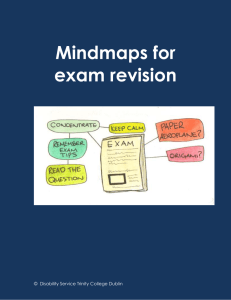 Mind-maps for Exams