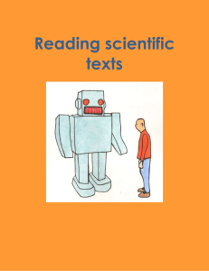Reading scientific texts