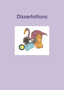 What is a Dissertation / Thesis