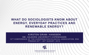 ESA 2015. KGH. What do sociologists know about energy everyday kort