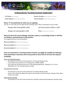 TA Application