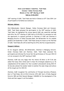 Minutes of 138th SLBC Meeting held on 19.06.2014 (Part I)