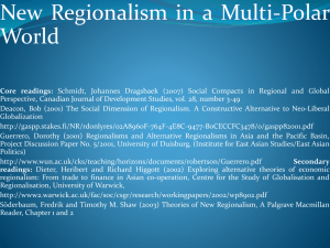 New Regionalism in a Multi Polar WorldPoland2010