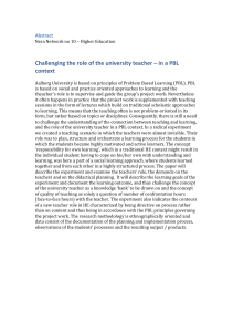 Challenging the role of the university teacher – in a... context Abstract