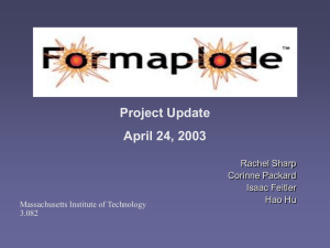 Presentation from April 24, 2003