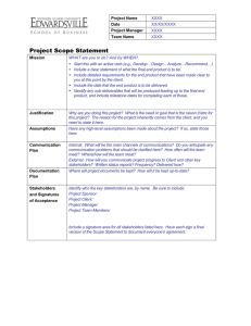 SIUE Template: Scope Statement