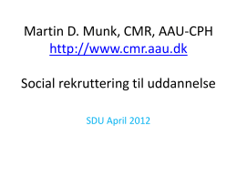 SDU april 2012 Martin D. Munk final