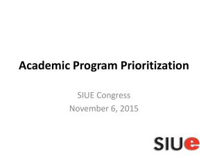 Academic Program Prioritization