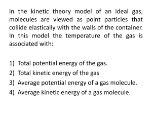 Ch 21 Kinetic Theory