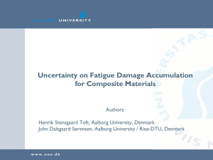 Uncertainty on Fatigue Damage Accumulation for Composite Materials