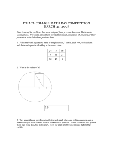 Download Math Day 2008 Competition Answers