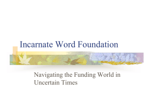 Incarnate Word Foundation Navigating the Funding World in Uncertain Times