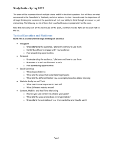 Study Guide - Spring 2015
