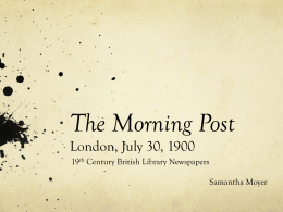 The Morning Post London, July 30, 1900 19 Century British Library Newspapers