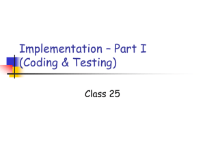 Implementation (Coding and Testing)