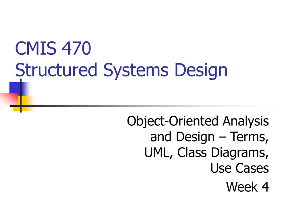 Object Oriented Use Case And Class Diagrams