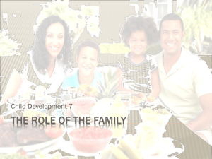 The Role of the Family.ppt