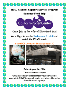 TRiO/ Student Support Service Program Summer Field Trip