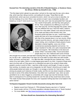 autobiography of olaudah equiano essay the interesting narrative of the life of olaudah equiano or the african