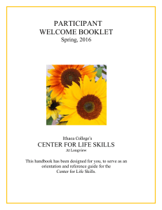 Download Participant Welcome Booklet, Spring, 2016
