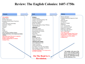 Fall 2015 Colonial Period 1607-1750s Chart.ppt