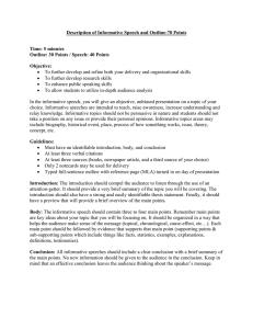 Informative Speech Topics For College