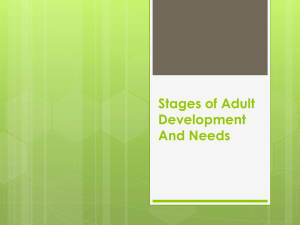 Stages of Adult Development And Needs chs.4-6