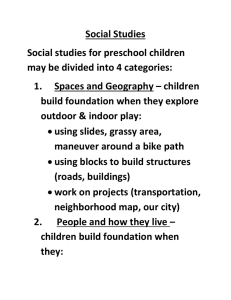 Social Studies Social studies for preschool children