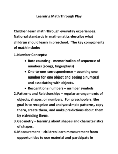 Learning Math Through Play  Children learn math through everyday experiences.