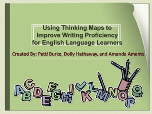 Using Thinking Maps to Improve Writing Proficiency for English Language Learners (Powerpoint)
