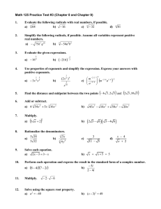 """Practice on Completing the Square and its uses. I. How to """"complete"""
