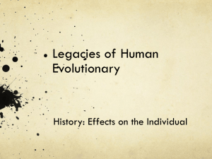 Legacies of Human Evolution.ppt