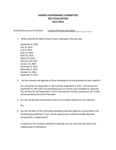2013-2014 Self-Evaluation Form for Facilities Planning Committee