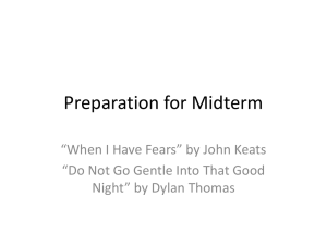 Preparation for Midterm Keats and Thomas.pptx