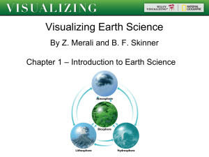 1. Earth Science and the Earth System