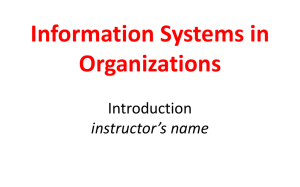 MIS2101 Course Introduction